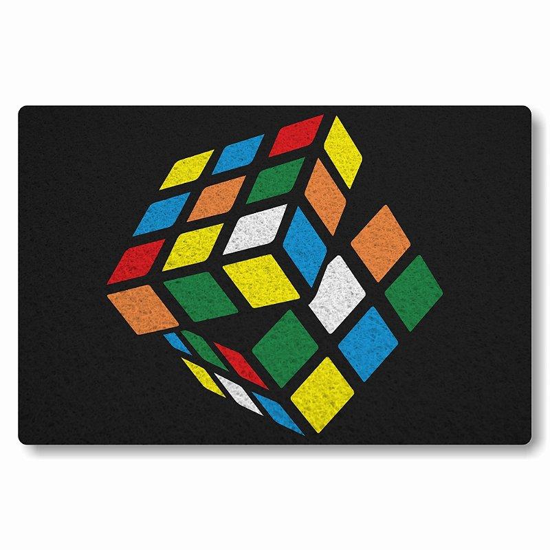 Tapete Personalizado Cubo Magico - Preto