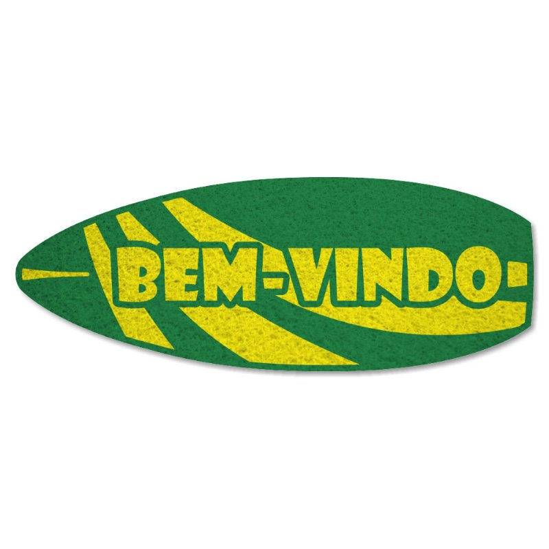 Tapete Personalizado Prancha Bem-Vindo - Verde Bandeira