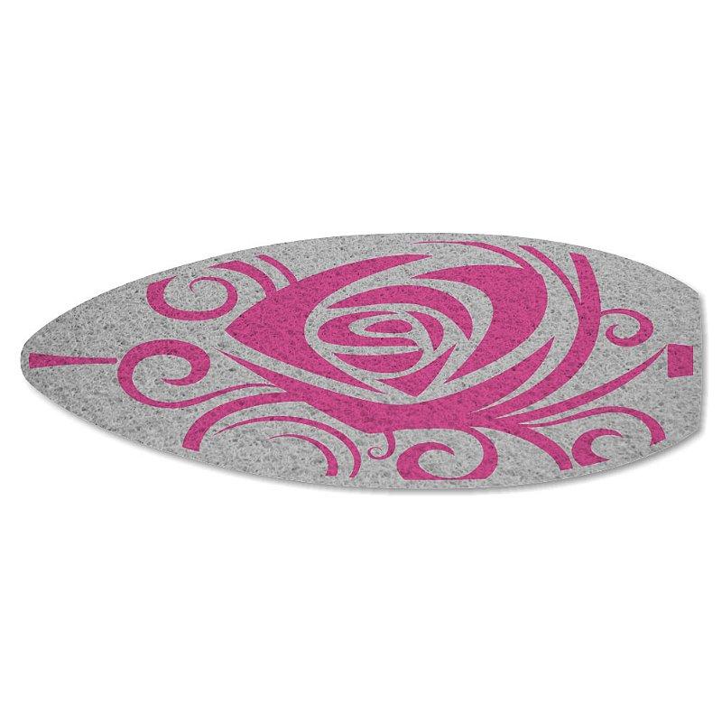 Tapete Personalizado Prancha Rosa - Prata