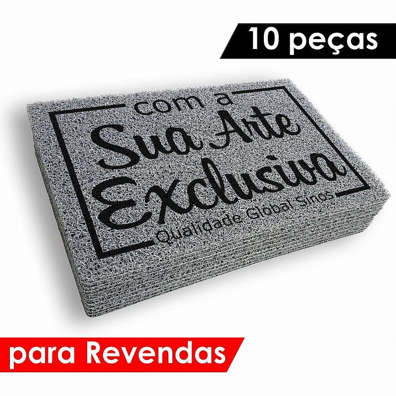 Tapete Personalizado 10 Tapetes Capachos com Arte exclusiva para Revendas