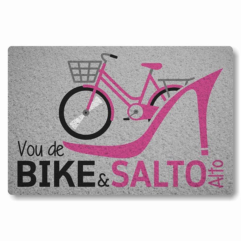 Tapete Personalizado Vou de bike e salto alto