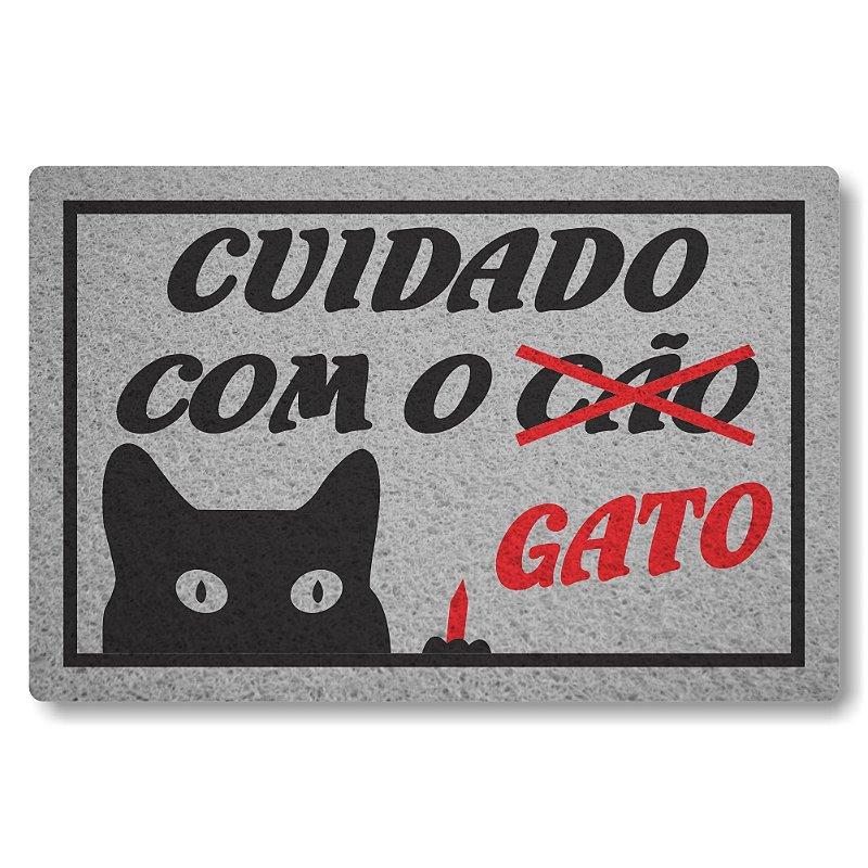 Tapete Personalizado Linha Tapets Cuidado com o Cao Gato