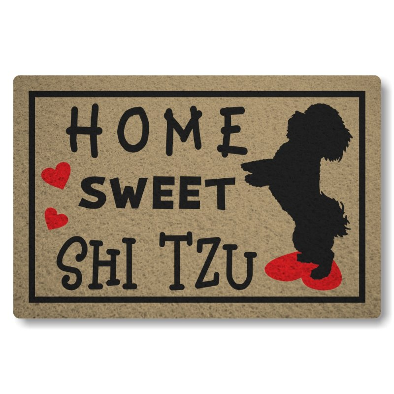 Tapete Personalizado Linha Tapets Home Sweet Shitzu