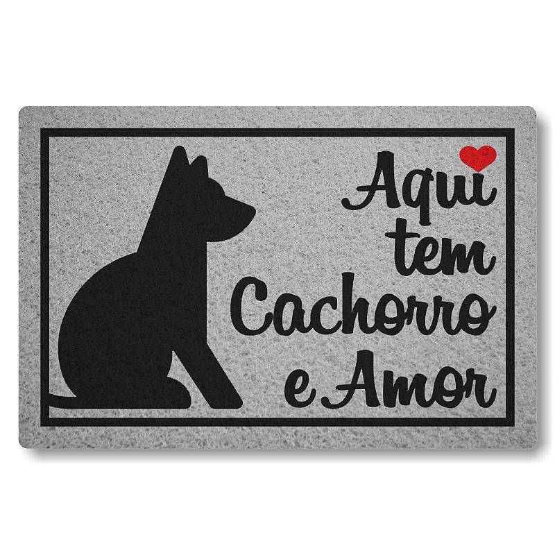 Tapete Personalizado Linha Tapets Aqui tem Cachorro e Amor