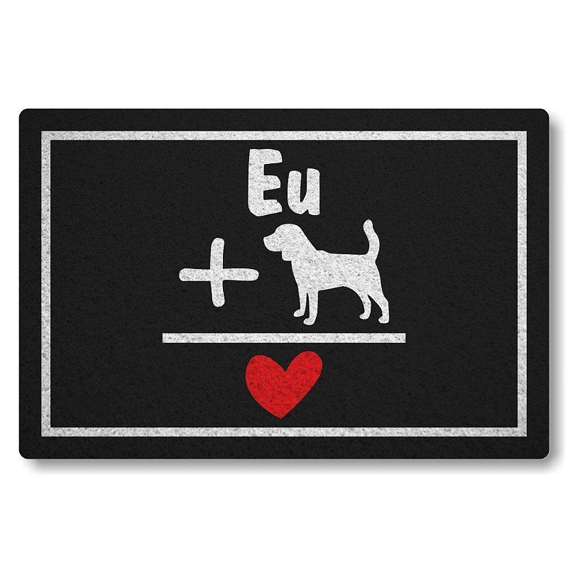 Tapete Personalizado Linha Tapets Eu Mais Dog Igual Amor