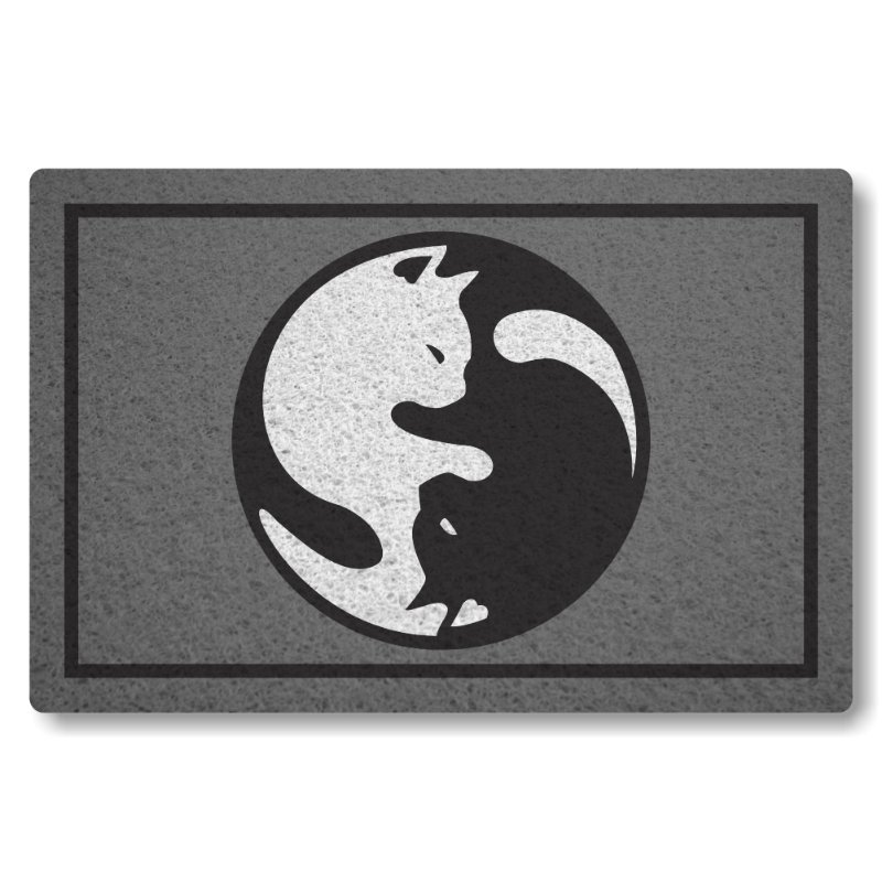 Tapete Personalizado Linha Tapets Yin e Yang - Bem e Mal Gato