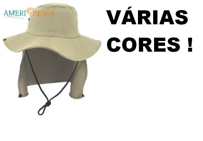 95390ad909a04 Chapéu DUPRAT de Pesca Safari C  Protetor Solar e Nucal - Várias Cores
