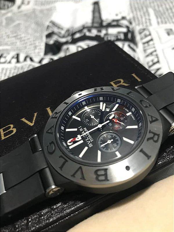 8c3310c943f Relógio Bvlgari Titanium - BELO RELÓGIO OFICIAL