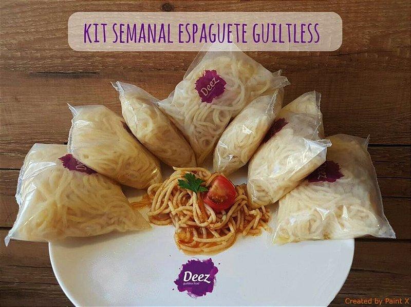 Kit semanal Espaguete Guiltless - Pacotes de 200g