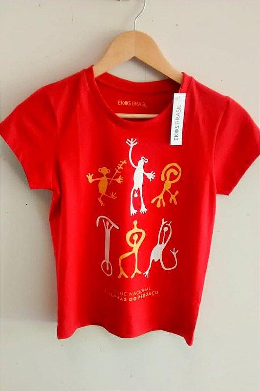 Camiseta Peruaçu Vermelha Feminina