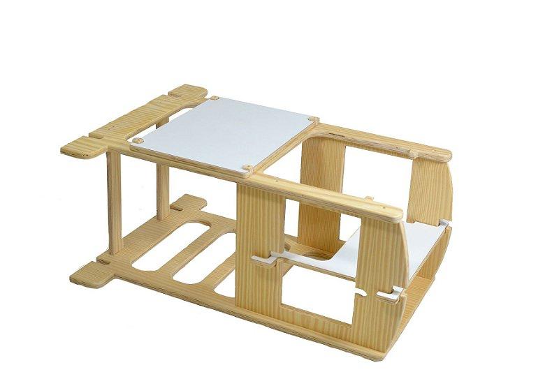 Torre Aprendizagem & Cadeirão & Mesa-Cadeira 3x1