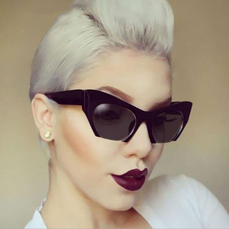 deeb1caa5d752 Luxo Sem Aro Do Vintage Óculos De Sol Das Mulheres Marca Designer ...