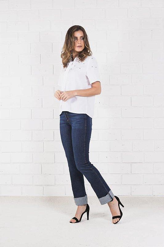 Calça Jeans Barra Dobrada