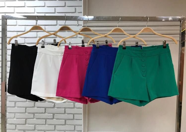 Shorts Botões Fake - Cores