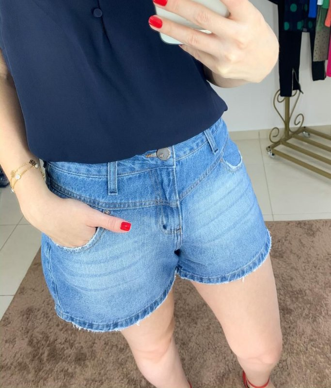 Shorts Jeans Mom Recortes