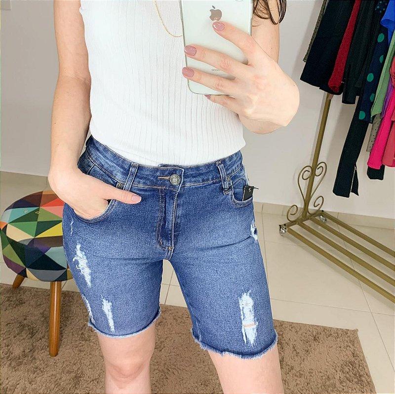 Bermuda Jeans Raladinhos