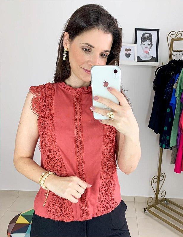 Blusa Luxo Rendada