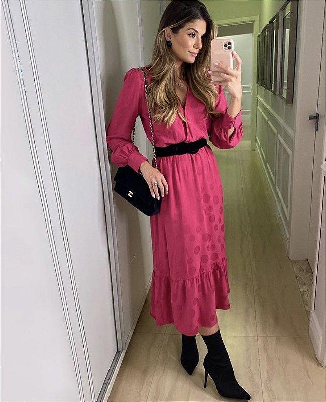 Vestido Midi Manga Longa