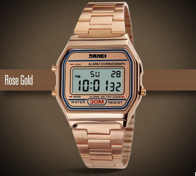 0c895cd5df3 Relógio Vintage Original Rosê Skmei 1123 - Vl Click Relogios ...