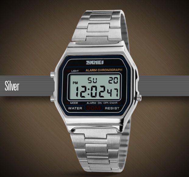 bad48e9da1e Relógio Vintage Original Prata Skmei 1123 - Vl Click Relogios ...