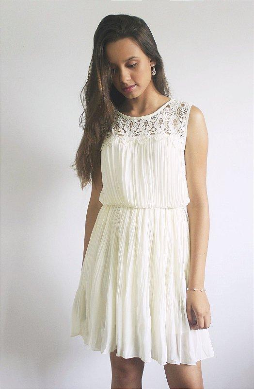 Vestido rodado franzido