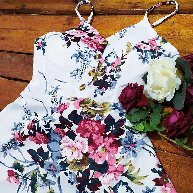 Vestido florido midi rodado