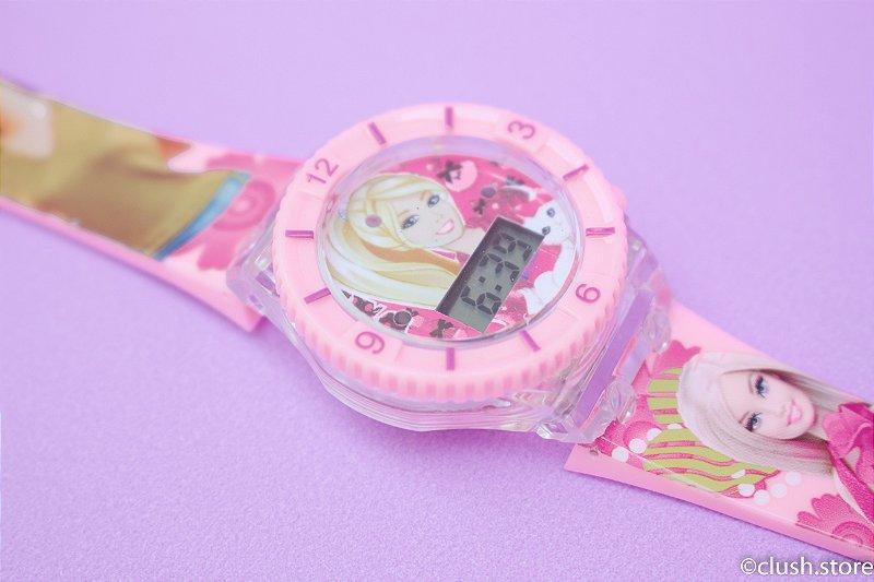Relógio Barbie - Brilha no escuro