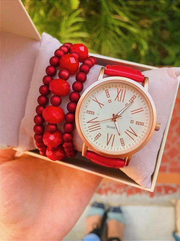Relógio Lala - Vermelho - Ref.: M2