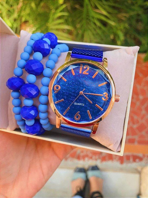 Relógio Glow - Azul - Ref.: M1