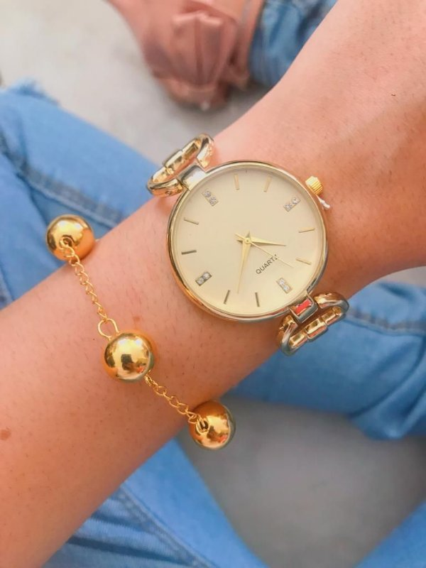 Relógio New Cercle - Dourado - Ref.: M2