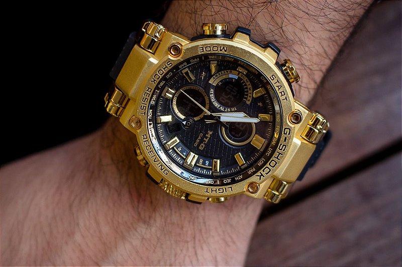 Relógio Casio G-Shock MT-G - Dourado/Preto - Primeira Linha