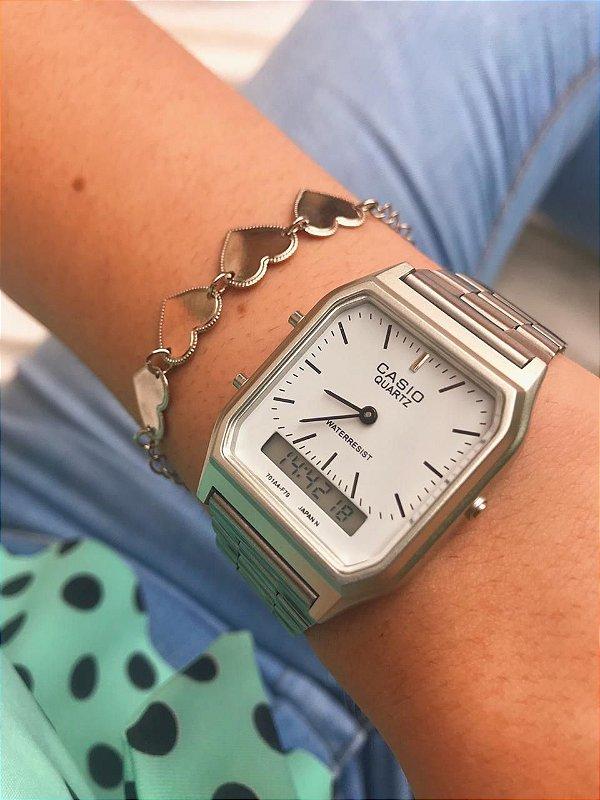 Relógio Casio Vintage - Prata - Primeira Linha