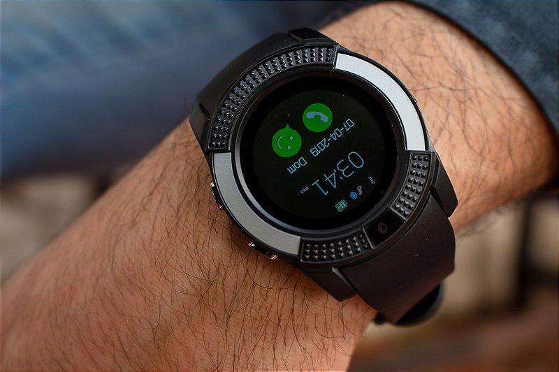 Smartwatch V8 - Preto - Android
