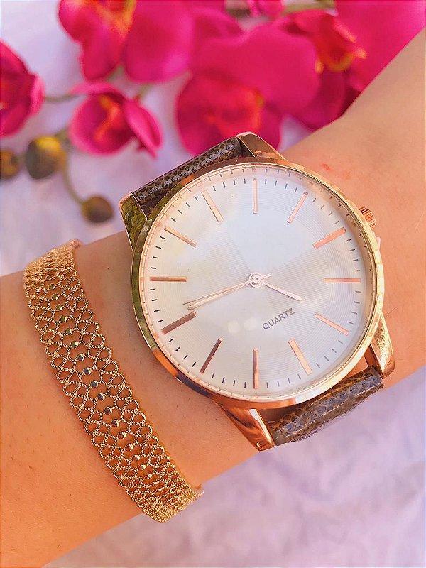Relógio New Classic - Rose/Marrom - Ref.: M1