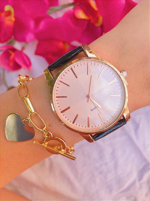 Relógio New Classic - Rose/Preto - Ref.: M1