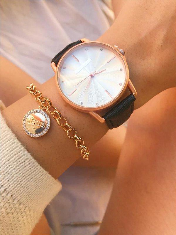 Relógio Marcela - Dourado/Preto