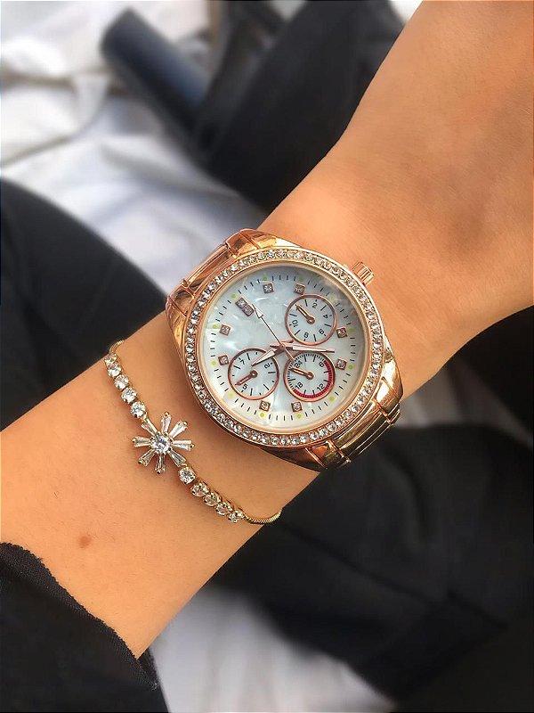 Relógio Carla - Rose