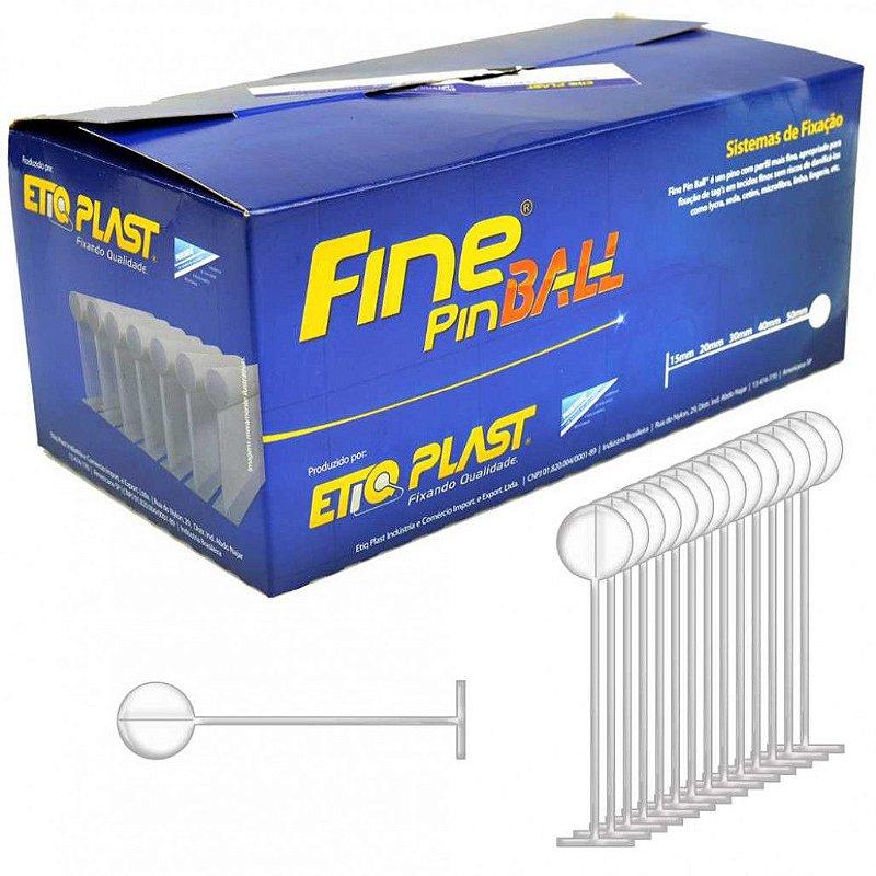 FINE PIN BALL 20 MM - ETIQ PLAST - CAIXA BOX 5 MILHEIROS