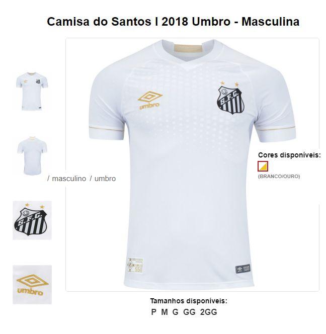 87d53e5487 Camiseta Santos Time Umbro - American star Promoções