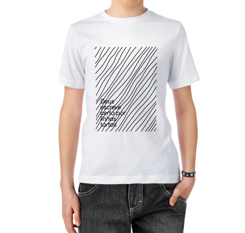 Camiseta Masculina Linhas Tortas