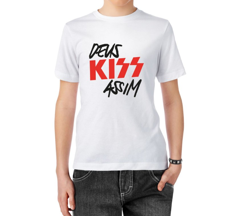Camiseta Deus Kiss