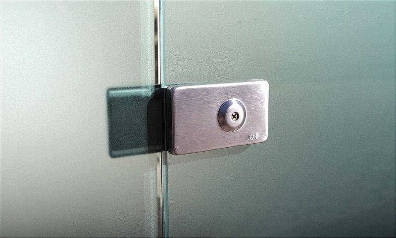 Fechadura para Porta de Vidro Pivotante (giro) com Chave Tetra JBM FA1