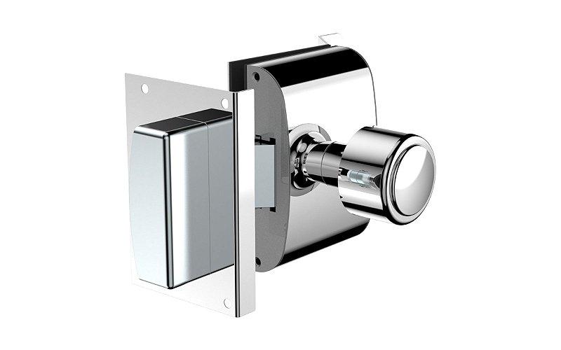 Fechadura Eletrônica para porta de Vidro x Alvenaria 12V R1 Inox Soprano