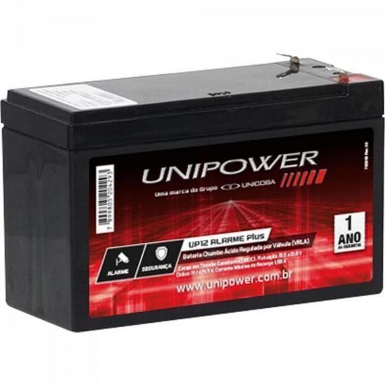 Bateria Selada 12V 5AH UP12 Alarmeplus Preta UNIPOWER