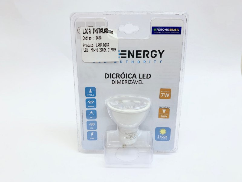 Lampada LED Dicroica Dimerisavel MR 16 Branca (10 unids)
