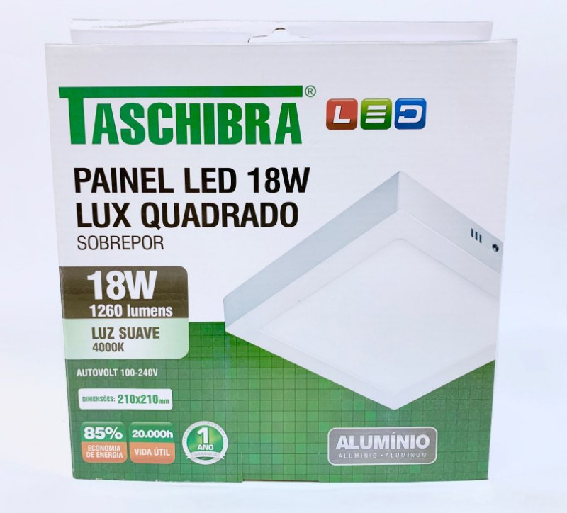 Luminaria Sobrepor LED 18w neutro