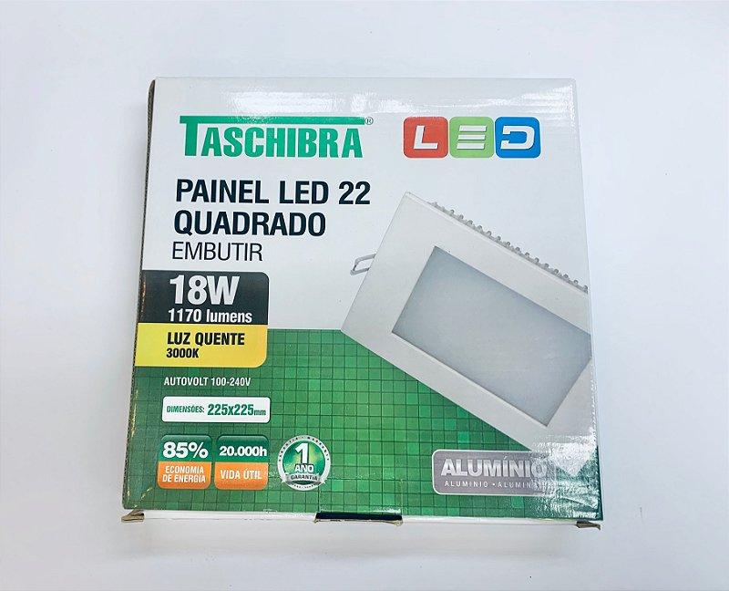 Luminaria Embutir LED 18w amarelo