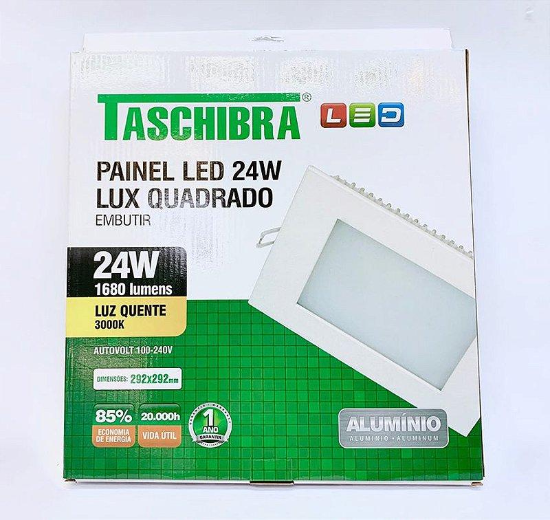 Luminaria Embutir LED 24w amarela