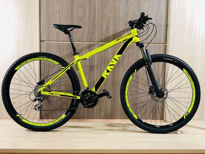 Bicicleta Aro 29 RAVA PRESSURE Freios e câmbios SHIMANO Amarela