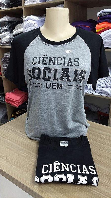 Camiseta ciências sociais UEM cinza